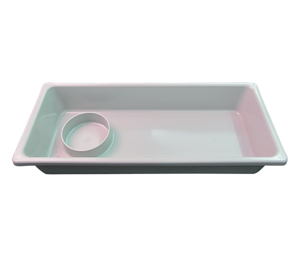 10-Series Gray Tub with Cup Holder